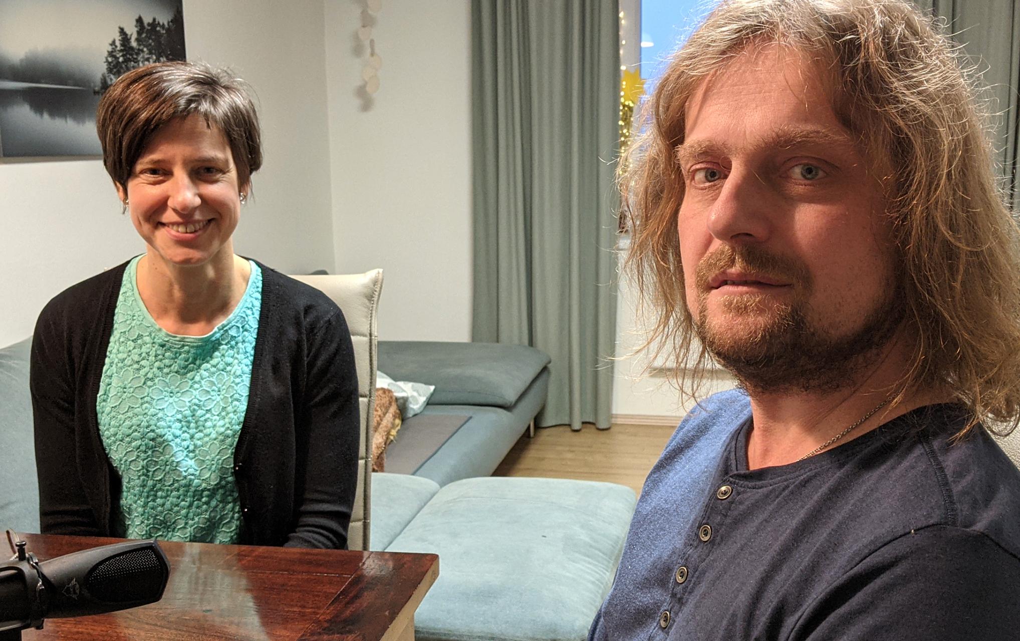 Redaktorka Adéla Pospíchalová a host Vladislav Günter. Zdroj: APIV-B