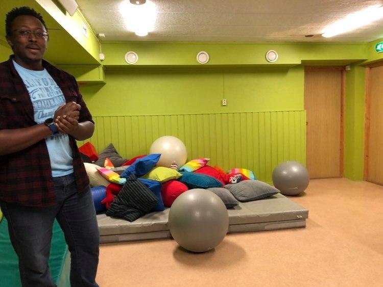 Relaxační pomůcky: dětská psychiatrická klinika Oslo