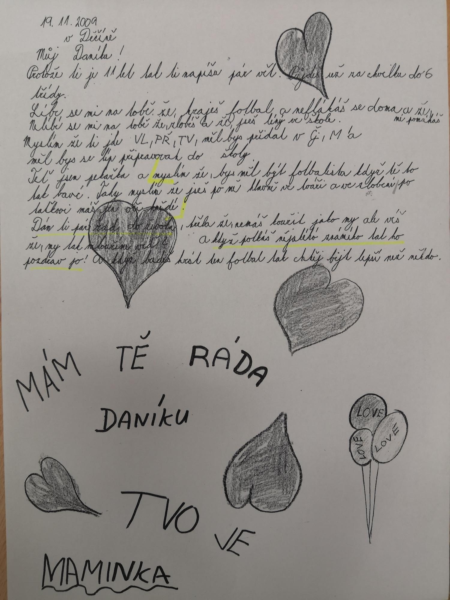 Dopis od mámy