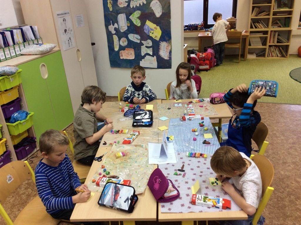 Obr. 2: Centra aktivit – 1. třída základní školy.